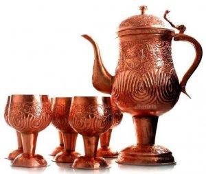 samovar kashmir tea maker copper-ware